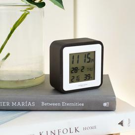 image-Digital Alarm Tabletop Clock London Clock Company Finish: Black