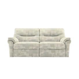 image-G Plan - Seattle 3 Seater Fabric Power Recliner Sofa