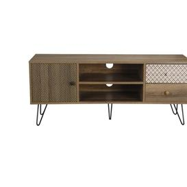 image-Carmelina Particle Board Tv Media Unit With 2 Drawer And 2&amphellip