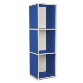 image-Narrow Bookcase Symple Stuff Colour: Blue