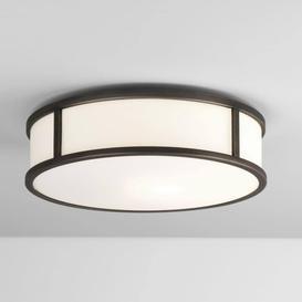 image-Astro 1121045 Mashiko Round Flush LED Ceiling Light In Bronze Plate - D: 300mm