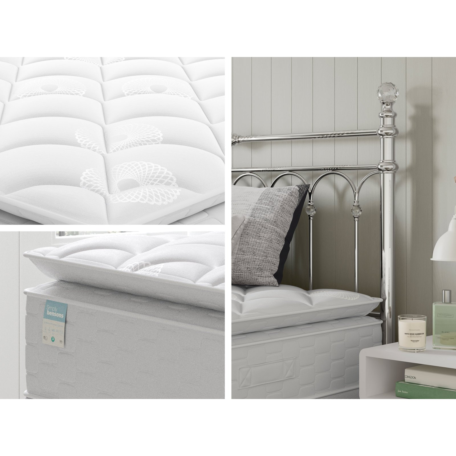 image-Simply Bensons Rafferty Options Pillow Top Divan Bed Set