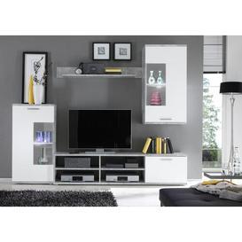 "image-Gerold Entertainment Unit for TVs up to 65\"" Metro Lane Colour: White/Beige"