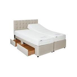 image-Mibed Rainford Adjustable Divan Bed (2 X Linked Beds) &Ndash Choose A Reflex Memory Or 1000 Pocket Memory Mattress