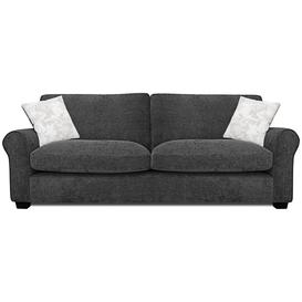 image-Argos Home Tammy 4 Seater Fabric Sofa - Charcoal