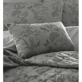 image-Ramona Boudoir Cushion with Filling Lily Manor Colour: Pewter