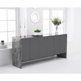 image-Dorit 180cm Grey Marble Sideboard