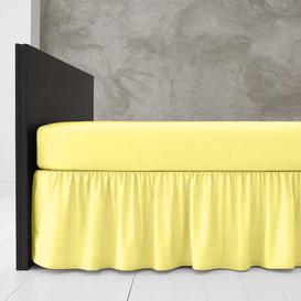 image-Block 144 Thread Count Valance Marlow Home Co. Bed Size: Double (4'6), Colour: Yellow