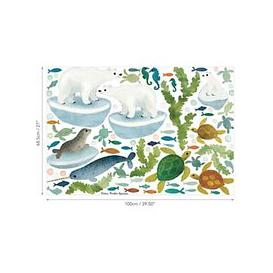image-Villa Nova Ocean Antics Wall Stickers, Multi, W577/01