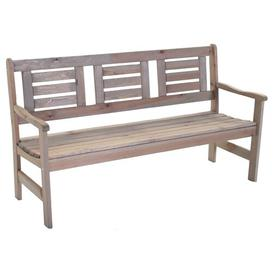 image-Glenview Wooden Bench Sol 72 Outdoor Colour: Light grey