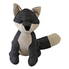 image-Grey Fabric Fox Doorstop