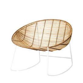 image-Orinoco Rocking chair - / Rattan & metal by Bloomingville White,Natural