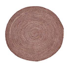image-Round Rose Woven Hemp Rug
