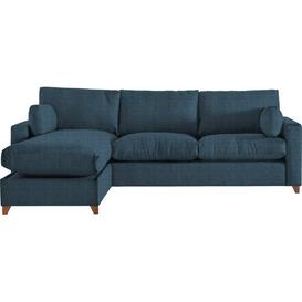 image-Yepez Ottoman Corner Sofa Mercury Row Upholstery Colour: Denim, Orientation: Left Hand Facing