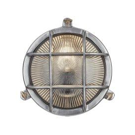 image-Industville Bulkhead Outdoor & Bathroom Round Light - 8 Inch - Gunmetal / Clear / Wiring Back