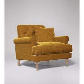 image-Swoon Sidbury Armchair in Turmeric Smart Wool With Light Feet