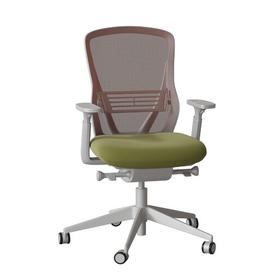 image-Dalton Ergonomic Mesh Task Chair Senator Frame Colour: Light Grey, Back Colour: Sunset, Upholstery Colour: Momentum Origin Eco
