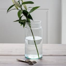 image-Tall Recycled glass vase