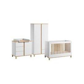 image-Vox Altitude Cot Bed 3 Piece Nursery Furniture Set - White