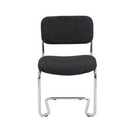 image-Sayers Armless Stacking Chair with Cushion Mercury Row Colour: Charcoal Pyra