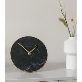 image-Marble Table Clock NeXtime Colour: Black