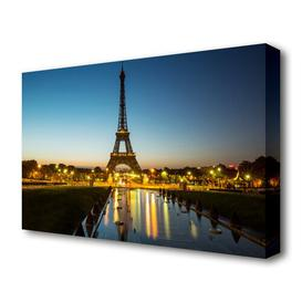 image-'Eiffel Tower Night Lights 2 Paris' Photographic Print on Canvas East Urban Home Size: 50.8 cm H x 81.3 cm W