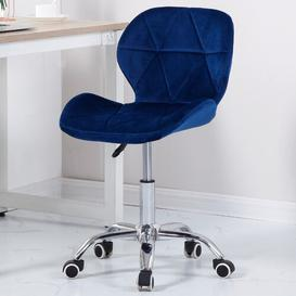 image-Aldorough Desk Chair Mack + Milo Upholstery Colour: Blue