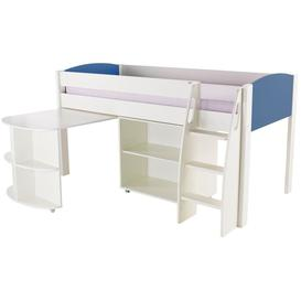 image-Stompa Blue Mid Sleeper Including Pull Out Desk and 1 Bookcase without Doors