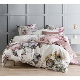 image-Full Floral Bed Linen - Botanical Print King Size Bedding Set