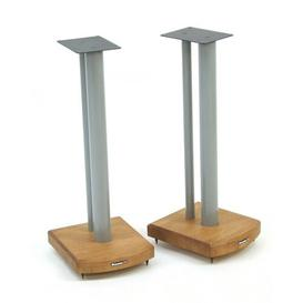 image-60cm Fixed Height Speaker Stand Symple Stuff Finish: Silver/Medium Bamboo