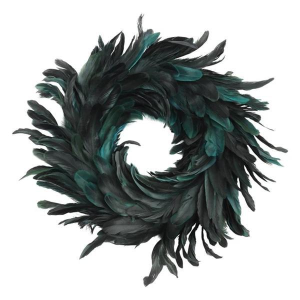 image-Libra Feather Blue Small Wreath - Xmas-19
