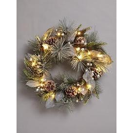 image-Pinecones Lit Christmas Wreath