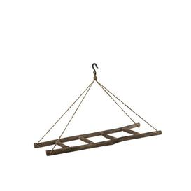 image-Ladder Hanging on Rope 110cm Wide Clothes Rack Symple Stuff