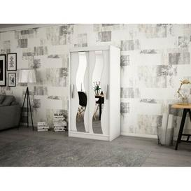 image-Margrete 2 Door Corner Wardrobe Ebern Designs Size: 200cm H x 120cm W, Finish: Matt White