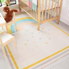 image-Bright Colourful Rainbow Soft Kids Bedroom Rugs  - Nino