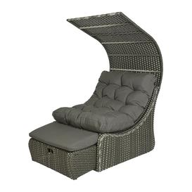 image-AMARA Outdoors - Outdoor Wicker Daybed with Roof - Grey