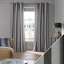 image-Bellagio Pencil Pleat Semi-Sheer Curtain Madura