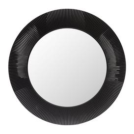 image-Kartell - All Saints Round Mirror - Matt Black