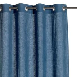 image-Sherlock Eyelet Room Darkening Curtain Ebern Designs Colour: Blue