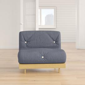 image-Kaley 1 Seater Futon Chair Zipcode Design Upholstery Colour: Navy, Size: Single (3')