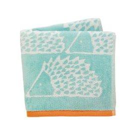 image-Scion Towels, Spike the Hedgehog Guest Towel, Aqua