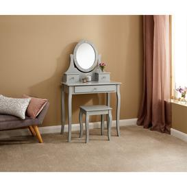 image-Hines Dressing Table with Mirror Rosdorf Park Colour: Grey