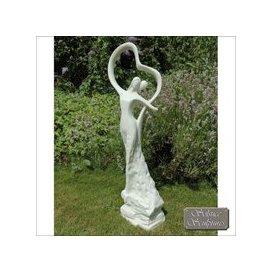 image-Solstice Sculptures First Dance Garden Ornament Statue White