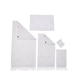 image-Fortier 5 Piece Towel Bale Fleur De Lis Living Colour: Beige