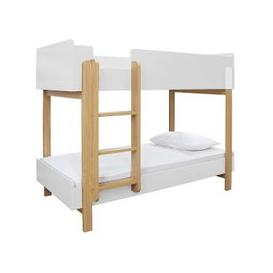 image-Marisol Wooden Bunk Bed In Matt White And Oak
