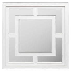 image-Urban Deco Geo White Square Wall Mirror - 120cm x 120cm