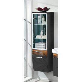image-Rima 40 x 134.6cm Wall Mounted Cabinet Belfry Bathroom Finish: Black - Brown