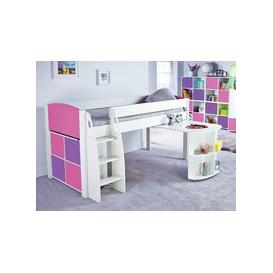image-Stompa UnoS 1b Midsleeper Desk + Cube With Doors