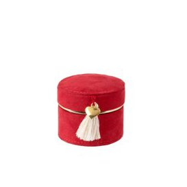 image-Red Jewellery Box with White Tassel