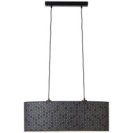 image-Calne 2 - Light Kitchen Island Drum LED Pendant Brayden Studio Finish: Black